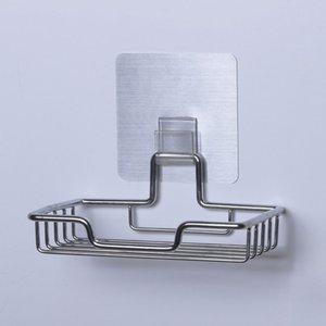 Self Adhesive Cozinha carga Strong Reutilizável Wall Mounted Hooks Eco-friendly Acessórios multifuncional banheiro do aço inoxidável
