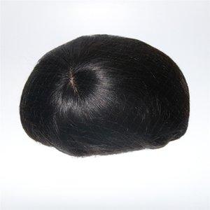 100% capelli umani Mens Toupee Base di seta con merletto svizzero nella parte anteriore e sottile Skin Back Back Toupee Remy Hair Systems Repalcment