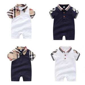 Pagliaccetti per neonati Pagliaccetti per bambini Little Boy Gentleman Plaid Pagliaccetti estivi per bambini in cotone