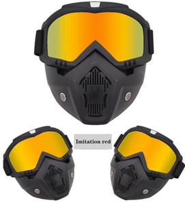 Masque hors-route lunettes de moto Lunettes Harley Casque Miroir tactique Lunettes coupe-vent et sandproof New Hot Vente Livraison gratuite