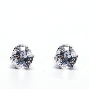 Bianco Nero Magnetic Magnetic Ear Stud Facile Usa Crystal Stone Orecchini per le donne Uomini Orecchini Clip On No Ear Hole Gif 1 paio