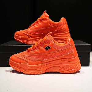2019 Harajuku Women's Chunky Sneakers Tenis Basket Women Casual Platform Shoes Ulzzang Dad Shoes High Top Sneakers Zapatos Mujer