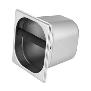 Restaurants Doppel-Loch-Edelstahl-Kaffeesatz Knock Out Box Espresso Waste Recycling-Halter-Werkzeug Coffeeware