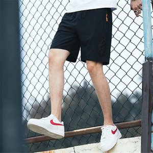 Pants Summer Loose Breathable Sport Style Sweatpants Striped Drawstring Quick Drying Sports Shorts Designer Fashion Mens Short