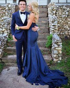 Осень элегантное вечернее платье Милая шея русалка поезда поезда Royal Blue Taffeta Особые случаи платья
