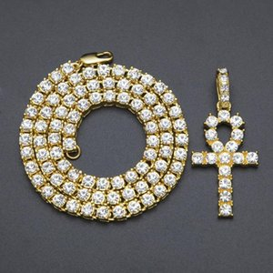 American street hot style Egypt anhe water diamond key pendant nightclub hip-hop men and women necklace