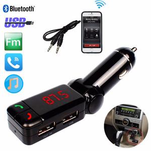 Cargador de coche Bluetooth Music Receiver 3,5 mm Cargador BC06 AUX altavoz Adaptador de coche del transmisor de FM Manos libres USB para el teléfono móvil