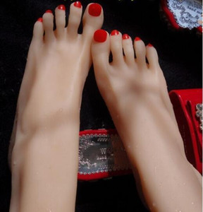 Real Silicone foot model plump footwear moulded silk stockings short legs mannequin woman silicone foot model for Sock 2pc lot M01001