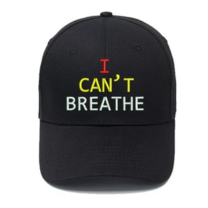 I CAN'T BREATHE Letters Designer Baseball Cap Ball Caps for Man Woman Adjustable Brand Hats Street Hat Beanies Highly Quality 7 Color