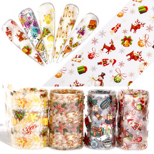 Christmas Starry Sky Nail Sticker Manicure Transfer Paste Stickers Halloween Candy Pumpkin Snowflake Nails Decoración 5 2zl UU