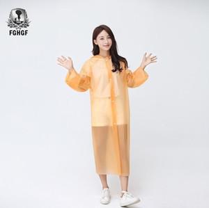 FGHGF 농축, 패션 비옷 방수 레인 코트 남자 여성 맑고 투명 캠핑 방수 비옷