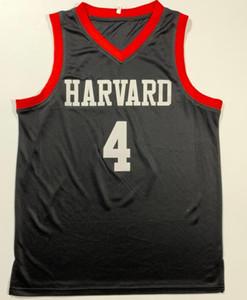 NCAA Harvard College China Jeremy Lin # 4 Jerseyball Jerseys Linsanity LinShuhao Imprimer Personnalisé Nom Nom Numéro 4XL 5XL Jersey 6XL