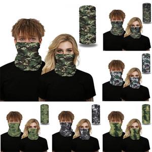 Numérique Camouflage Imprimer Visage Bouclier randonnée en plein air magique écharpe transparente Cap Sweat Wristband absorbant Sport Party Magic Mask Foulard