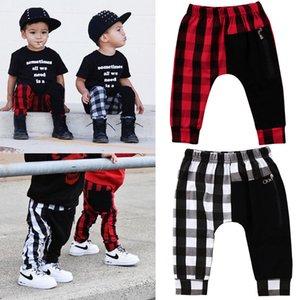 Boy Pants 1y-6y Fashion Toddler Kids Boys Pantaloni a quadri scozzesi Panty Harem Pantaloni Pantaloni Casual