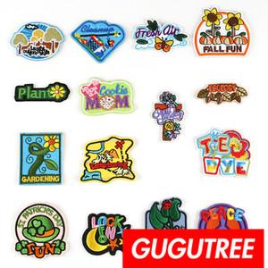 Parches bordados de autoadhesión GUGUTREE parche insignia parche Apliques para abrigo, camiseta, gorro, bolsos, suéter, mochila SP-271