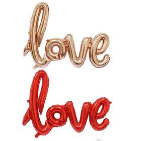Amour Alphabet air ballons Anniversaire Fête De Mariage Décoration Mylar Feuille Balloon grande Lettre Balloon Epacket bateau gratuit