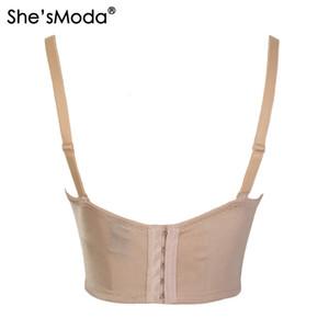 Оптово-She'sModa Nude сетки шнурка шарика Бюстье Pearls Алмазные Push Up Ночной клуб Bralette бюстгальтер женщин Обрезанные Top Vest Camis Plus Size