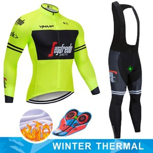 트레킹 2019 겨울 열 양털 따뜻한 사이클링 저지 세트 열 사이클링 의류 MTB 라이딩 의류 로파 Ciclismo
