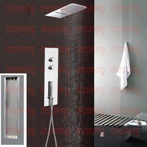 Duvar Vana Musluk Musluk Wall Duş Başlığı Kare Yağmur Suyu Duş Başlığı Yağmur Şelale BF9001 Karıştırma Duş Paneli Üniteleri Termostatik Monteli