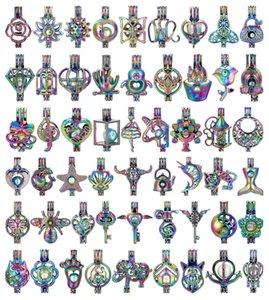 700 Designs pour vous choisissent -Pearl Cage Perles Cage Médaillon Pendentif Aroma Huile Essentielle Diffuseur Médaillon bricolage Collier Boucles d'oreilles Bijoux Bracelet