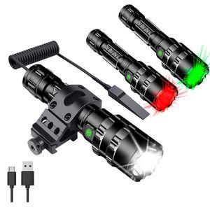 Ulako U70 350 yards adjustable tactical spotlight floodlight flashlight 1200 lumens LED for hunting