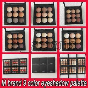 2019 Drop Shipping marca M 9 cores Shimmer Sombra 6 estilos Eye Makeup Cosmetic Eyeshadow com frete grátis