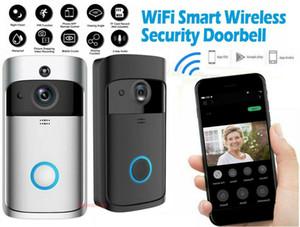Nueva inalámbrica Wi-Fi de vídeo timbre de la puerta Móvil anillo de intercomunicación cámaras de seguridad móvil de Bell remoto de alarma de vigilancia de vídeo de vídeo timbre de la puerta