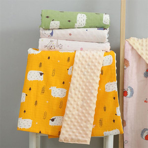 70x110cm 110x150cm muslin cotton baby blanket newborn baby kids children soft animal bedding blanket sleeping