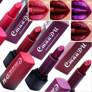 CmaaDu new hot style 4 color metal lipstick diamond waterproof durable lipstick