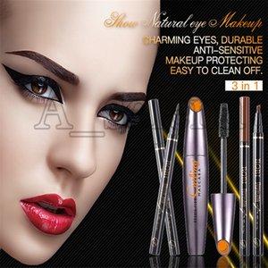 3 in 1 Eye Makeup Set Eyeliner Mascara Eyebrow Pencil Waterproof Long-lasting Natural Make up Set