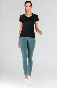 2020 New Fashion Yoga Brand Women's T-shirt Sport Yoga Shirt u Jogging l Leisure Women Designer T shirt u Same Style Short Sleeve T Shirts