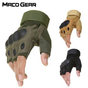 Tattica esterna Guanti senza dita militare dell'esercito ripresa Escursionismo Caccia Arrampicata Ciclismo Palestra Equitazione Airsoft Mezza Finger Gloves