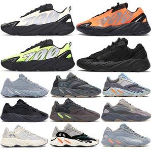 700 Naranja corredor Fósforo Bone Kanye hombre de los zapatos corrientes de los deportes carbono azul V2 inercia estática Geode utilidad negro estilista mujeres zapatillas de deporte