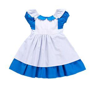 Halloween ragazze regalo operato Maid Dress Anime Alice In costume delle meraviglie per i bambini I bambini Sissy cameriera Lolita Cosplay C067