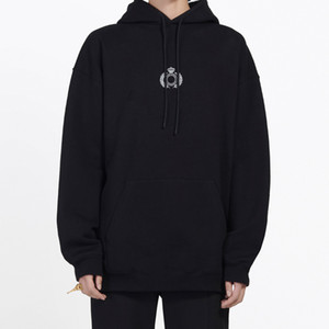 19FW 클래식 크라운 밀 귀 인쇄 후드 운동복 남성 여성 거리 풀오버 스웨터 가을 겨울 후드 스웨터 착실히 보내다 HFYMWY283