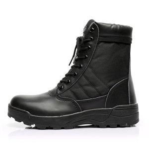 في الهواء الطلق للرجال الصحراء التكتيكية العسكرية أحذية الرجال أحذية العمل الصفتي الجيش SWAT التمهيد الكاحل الدانتيل متابعة القتال الرياضة أحذية