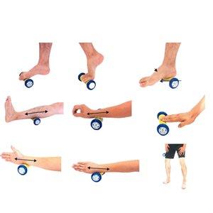 3Pcs Spiky Foot Roller Massage Ball Body Relax Pain Relief Back Leg Massager Set Yoga Circles