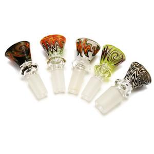 Commercio all'ingrosso Wig Wag inebrianti Pipes cupola di vetro colorato 18 millimetri 14 millimetri Uomo Donna di vetro coppe dei filtri Per olio Rigs Glass Bong