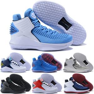 Melhor Jumpman 32 s XXXII 32 Mens tênis de basquete Designer de moda preto Retro Sports Trainer tênis High Cut tamanho 7-12