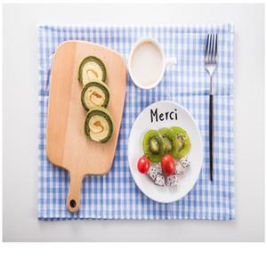 Маленькая чистая и свежая классическая сетка салфетка ткань западная еда коврик масло доказательство теплоизоляция коврик, чайное полотенце чашка полотенце 3 цвета