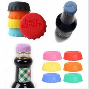 맥주 양념 물 뚜껑 실리콘 맥주가 모자를 반복 사용하여 사탕 색깔 실리콘 뚜껑을 간장 음료 맥주 와인 뚜껑을 가진 신선한 뚜껑 WY69