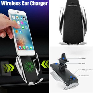 2020 Hot S5 Car Wireless Charger Automatic Sensor For iPh Xs Max Xr X Sam S10 Intelligent Infrared Fast Wirless Charging Car Phone Holder