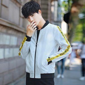 Collar Primavera e Outono New Style Men Baseball Brasão Stripes Slim Fit Juventude Origional Hong Aceno Jacket homens