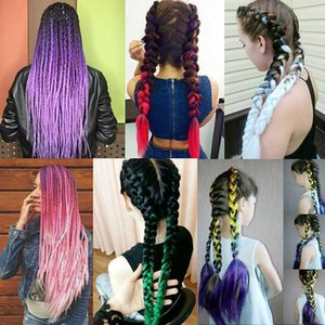Jumbo Braid Crochet Braids Synthetic Hair Extensions Ombre color 24inch