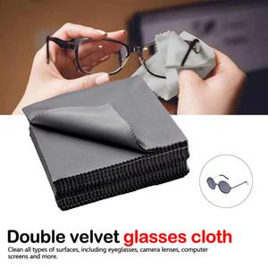 10pcs Occhiali panno in microfibra Cleaner schermo panni Occhiali Lens abiti neri Occhiali panno eyewear accessori telefono pulito