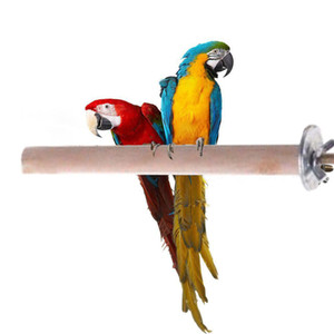 Parrot Pet Raw Wood Stand Toy Parakeet Hamster Branch Perches for Bird Cage