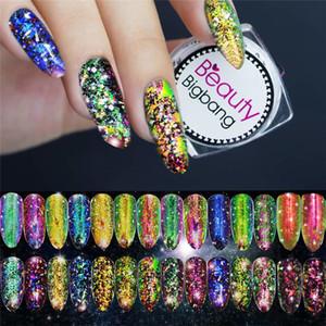 BeautyBigBang 0,2g Chameleon prego Paillette Irregular Flakies pó Coral Cor Nail Art Glitter Lantejoulas Manicure Detalhes