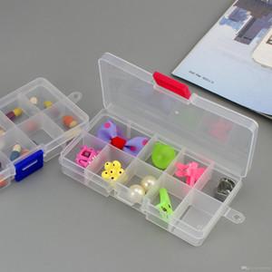 10 Bande Griglie Loom stoccaggio gioielli Beads Organizzatore di plastica del mestiere della cassa del contenitore 15 slot