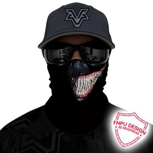 3D Venom Bandana Neck Buffs Trekking Face Mask Joker Skull Seamless Bandanas Headband Deadpool Neck Gaiter Hunting Ski Balaclava