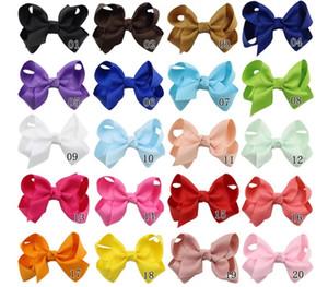 20colors 3 pulgadas Grosgrain Accesorios de la cinta del bebé Hairbows con clip Boutique arcos del pelo de las horquillas lazos de pelo lindas